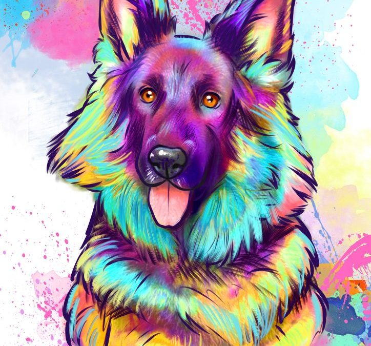 Afbeelding van Yoko in hele felle kleuren