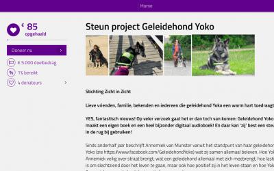 GROOT NIEUWS 'Geleidehond Yoko' wordt boek!!