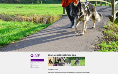 Actie projct 'Geleidehond Yoko' loopt als een speer!