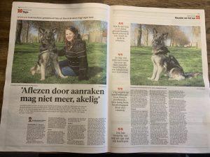 Het artikel van Annemiek en Yoko in Noordhollands Dagblad van 30 april 2021